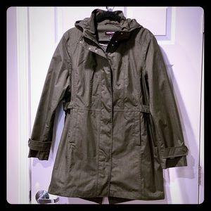 Green Ladies Trench/Rain Coat